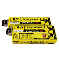 Yellobrik OBD 1510 D RS232/422/485&GPI⇔光ファイバー(シングル)双方向光伝送装置